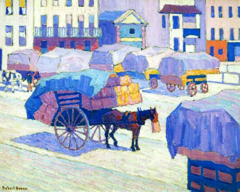 Hay Carts   Robert Bevan   oil painting