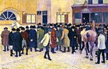 Horse Sale at the Barbican | Robert Bevan | oil painting