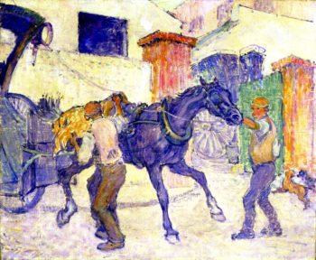 HThe Cab Horse | Robert Bevan | oil painting