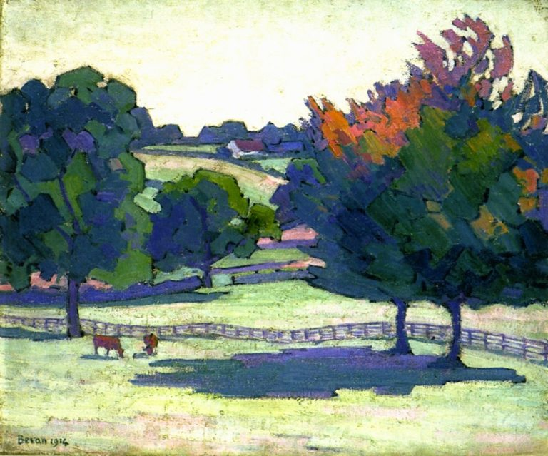 Maples at Cuckfield | Robert Bevan | oil painting