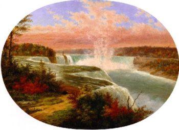 The Artist at Niagara | Cornelius Krieghoff | oil painting