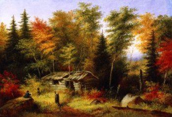 The Artist Painting | Cornelius Krieghoff | oil painting