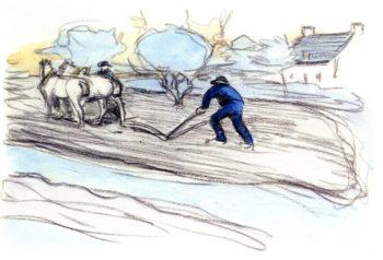 Ploughing | Robert Bevan | oil painting