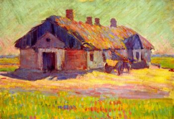 Polish Tavern   Robert Bevan   oil painting