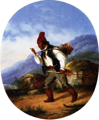 The Berry Seller | Cornelius Krieghoff | oil painting