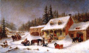 The Blacksmiths Shop | Cornelius Krieghoff | oil painting