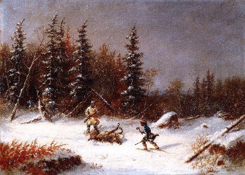 The Caribou Hunter   Cornelius Krieghoff   oil painting