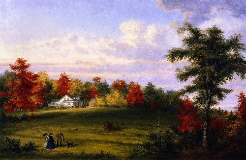 The Country House of Captain John Walker near Quebec | Cornelius Krieghoff | oil painting
