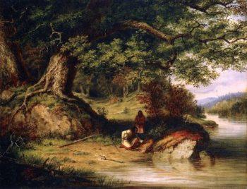 The Hunters | Cornelius Krieghoff | oil painting