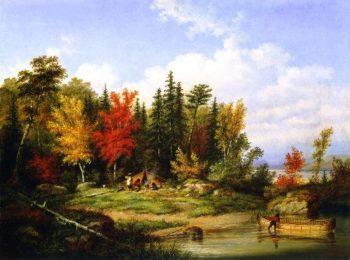 The Indian Campsite | Cornelius Krieghoff | oil painting