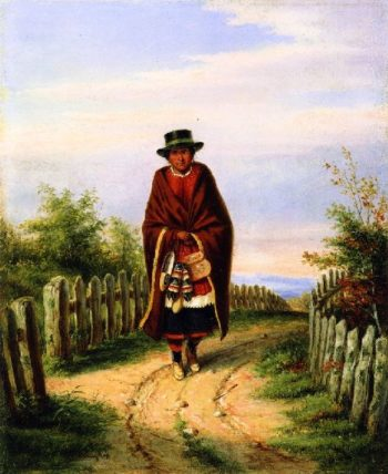 The Indian Moccasin Seller | Cornelius Krieghoff | oil painting