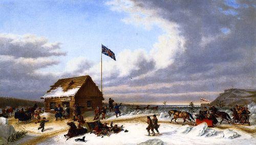 The New Years Day Parade | Cornelius Krieghoff | oil painting