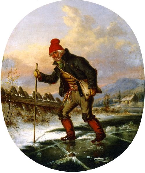 The Old Poacher | Cornelius Krieghoff | oil painting