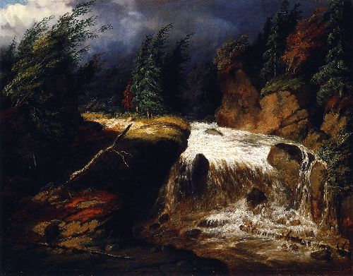 The Passing Storm St Fereol | Cornelius Krieghoff | oil painting