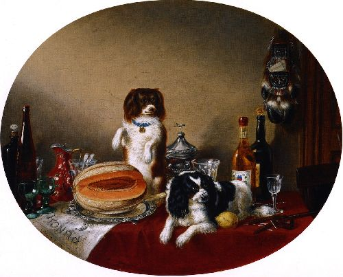 The Pets and the Materials | Cornelius Krieghoff | oil painting