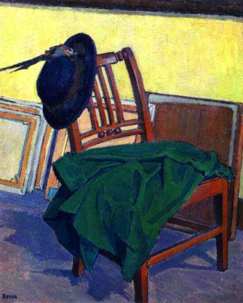 The Green Coat   Robert Bevan   oil painting