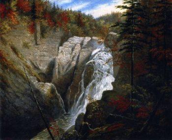 The St Anne Falls | Cornelius Krieghoff | oil painting