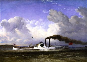 The Steamship Quebec | Cornelius Krieghoff | oil painting