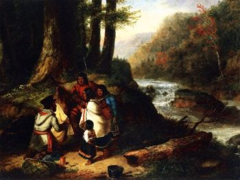 The Trader | Cornelius Krieghoff | oil painting