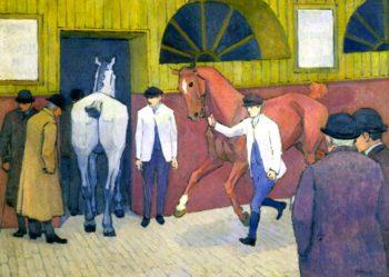 The Horse Mart | Robert Bevan | oil painting