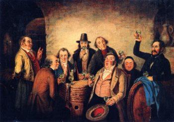 The Winetasters | Cornelius Krieghoff | oil painting
