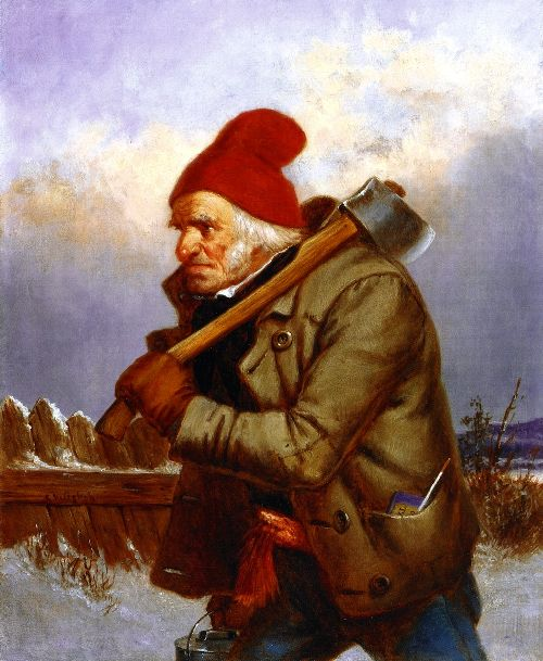 The Woodcutter   Cornelius Krieghoff   oil painting