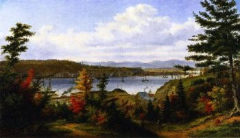 View of Quebec City from Pointe Levis | Cornelius Krieghoff | oil painting