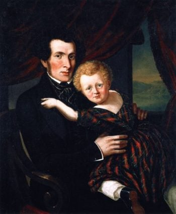 William Williamson and His Son Alexander | Cornelius Krieghoff | oil painting