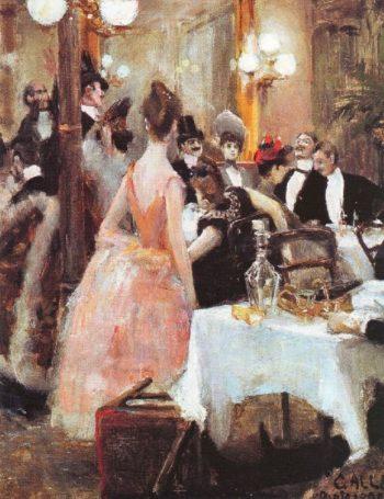 After the Opera Ball | Akseli Gallen Kallela | oil painting