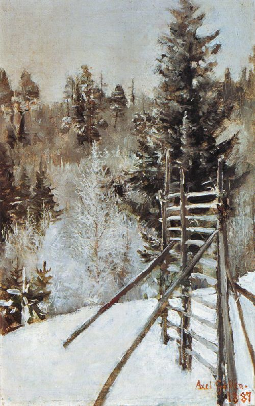 A Winter Landscape | Akseli Gallen Kallela | oil painting