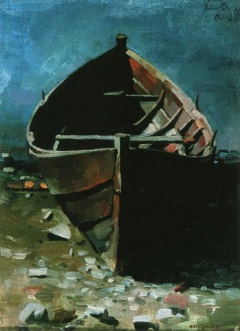 Beached Boat at Daybreak | Akseli Gallen Kallela | oil painting