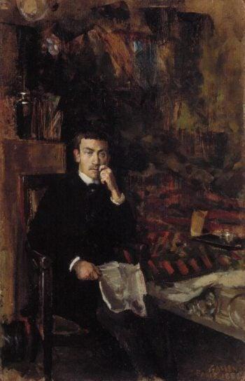 Boheme Portrait of the Painter Adam Dornberger | Akseli Gallen Kallela | oil painting