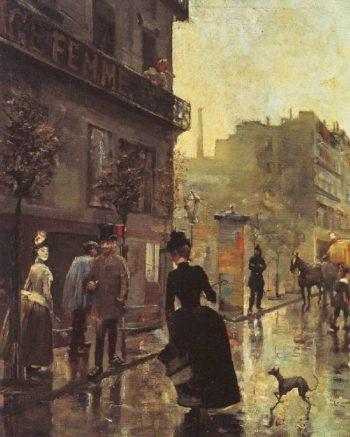 Boulevard In Paris | Akseli Gallen Kallela | oil painting