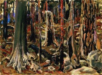 Burnt Forest | Akseli Gallen Kallela | oil painting