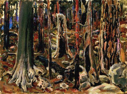 Burnt Forest   Akseli Gallen Kallela   oil painting