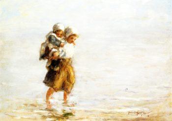 Piggy Back Ride   Robert Gemmell Hutchison   oil painting