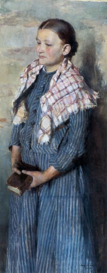 Church Girl | Akseli Gallen Kallela | oil painting
