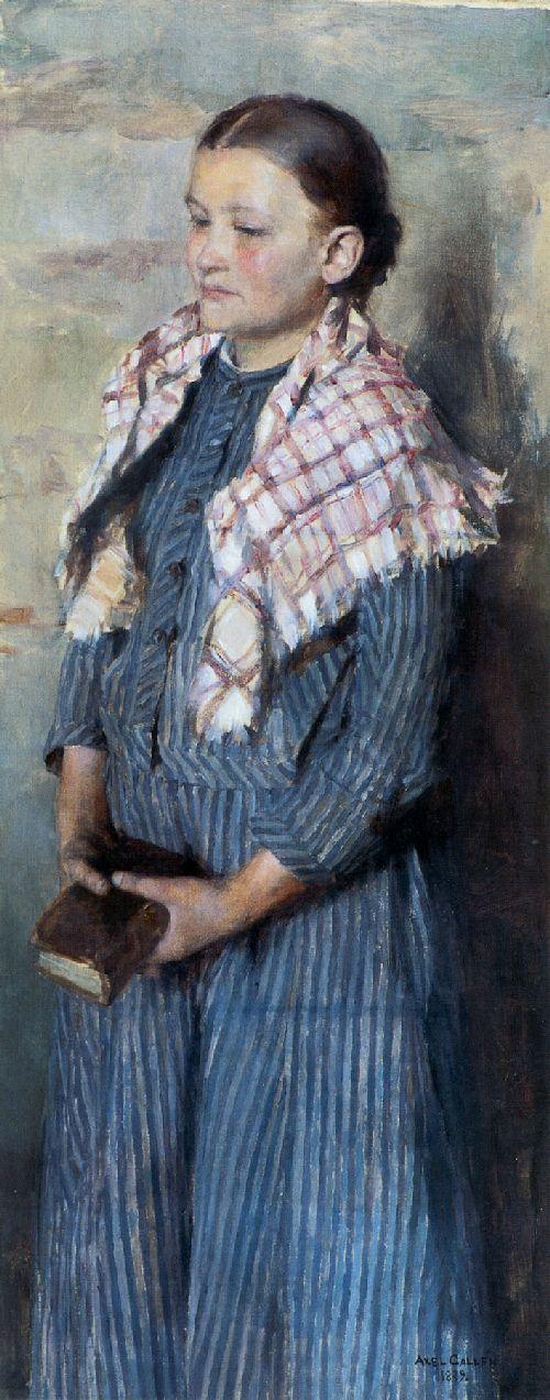 Church Girl | Akseli Gallen Kallela | oil painting