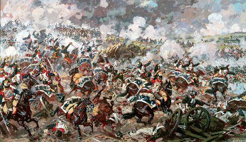 Assault Battery Rajewski   Alexander Averyanov   oil painting
