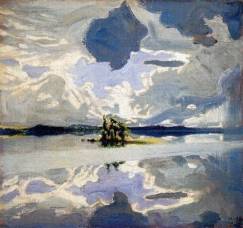 Clouds Above a Lake | Akseli Gallen Kallela | oil painting