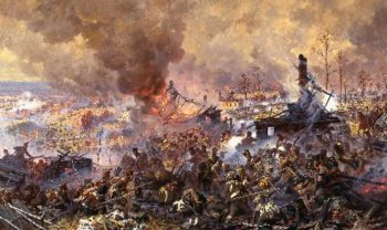 Battle for Maloyaroslavetz 12 24 October 1812 | Alexander Averyanov | oil painting