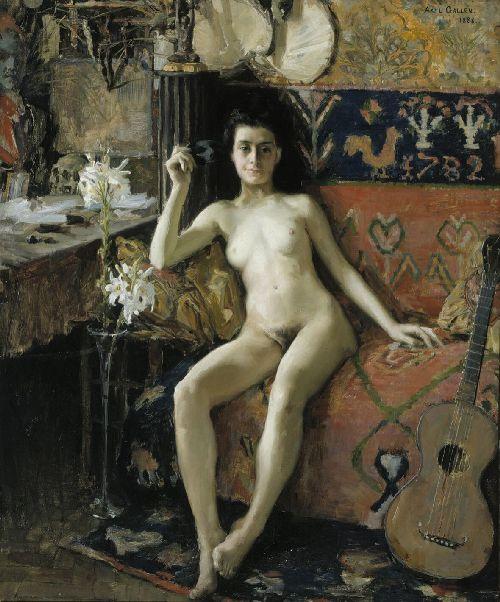 Demasquee | Akseli Gallen Kallela | oil painting