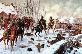 Battle of Eylau on January 27 8 February 1807 Napoleons command post | Alexander Averyanov | oil painting