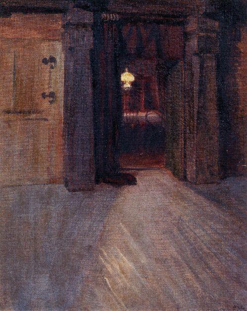 Entrance to Kalelas Dining Room | Akseli Gallen Kallela | oil painting