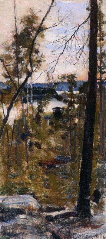 Evening Landscape from Korpilahti | Akseli Gallen Kallela | oil painting