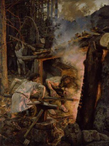 Forging of the Sampo   Akseli Gallen Kallela   oil painting