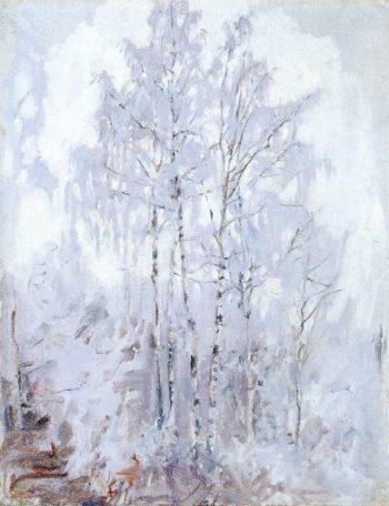 Frosty Birch Trees | Akseli Gallen Kallela | oil painting