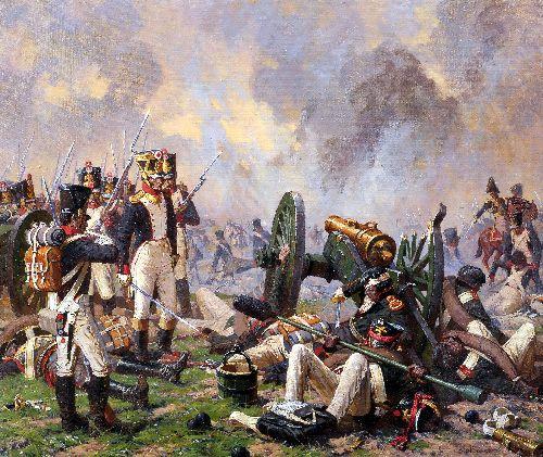 Heroic deed of Gunners   Alexander Averyanov   oil painting