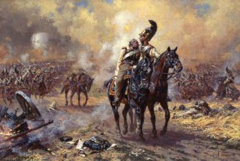 Konnogvardeytsy at Borodino | Alexander Averyanov | oil painting