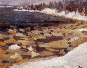 Ice Floes at Kalelas Shore | Akseli Gallen Kallela | oil painting